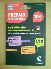 Congstar Prepaidkarte WIE ICH WILL inkl. 10 ? Startguthaben NEU !