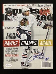 Patrick Kane Signed Sports Illustrated Mag 9/30/13 No Label Blackhawks Auto JSA
