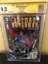 Superman / Batman #1 (Nov 2003, DC)--CGC 9.2 SIGNED BY JAE LEE VARIANT COVER