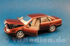 Audi 100 Stufenheck, bronze/rot metallic, M 1:24 Schabak 1420 Originalverpackung