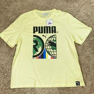 Puma Mens 2XL International Tee Yellow New 599804 40