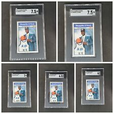 Shaquille O'Neal 1992-93 Panini Stickers #1 Rookie Card Lot Of 5 SGC Shaq Magic