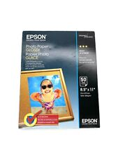"""Epson S041649 Glossy Photo Paper - 50 Sheets Inkjet 8.5"""" x 11"""" Instant Dry"""