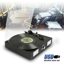 Fenton RP108B 2 Speed Black Retro Vinyl LP Record Player Turntable 33 1/3 45 RPM