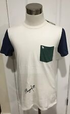 NWT Abercrombie & Fitch Men's COLORBLOCK TEE, White, Large