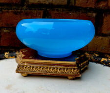 French Blue Opaline Glass Bowl