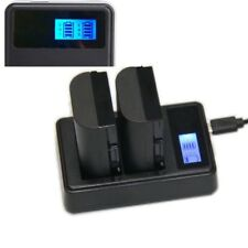 Dual LCD Display Battery Charger For Nikon EN-EL3e D700 D300 D200 D80 D90 D300s