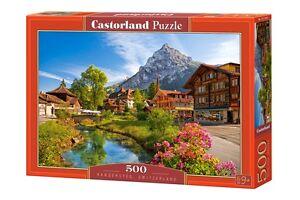 Castorland B-52363 Puzzle Kandersteg, Schweiz Dorf Gebirge Berge 500 Teile