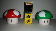 3 Piece - Pac-Man, Toad, and 1 Up Mushroom Miniature Nintendo Tins