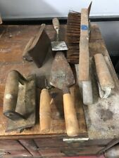 Various Vintage Concrete Groovers And Other Tools