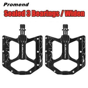 PROMEND Widen Ultralight 3 Bearings Flat Bicycle Pedals MTB BMX Road Bike Pedals