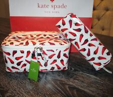 Kate Spade New York Hot Peppers Large Colin Cosmetic Case Bag NWT
