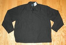 Mens Tri Mountain Zip Up Soft Twill Jacket NWT Size 3XLT Black Lined 2990 Avenue