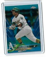 Khris Davis Oakland Athletics 2018 Topps Chrome Blue refractor parallel /150