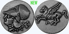 Athena, Goddess of Wisdom, and Pegasus Winged Horse Coin, Version 4, (#85FL-S)