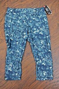NWT Under Armour Capri Printed Green Women's XL