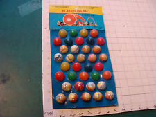 Vintage HI-BOUNCING BALL 36 of 36 w card 1980's from Taiwan, VERY COOL DISPLAY 2