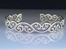 Celtic Maori sterling Silver Cuff Bangle Bracelet by Peter Stone Fine Jewelry