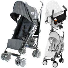 Zeta Citi Stroller Buggy Pushchair - Black (+Raincover+Parent Console)