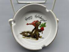 1976 Suzy'S Zoo Enesco Happy Holidays Squirrel Ash Tray Excellent