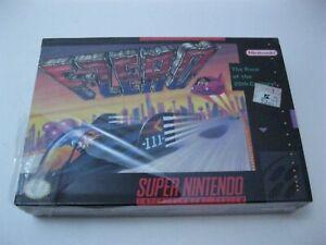 F-Zero new factory sealed Super Nintendo SNES damaged plastic seal 1991