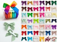 6 5cm Satin Bows 12 or 45 Pack Self Adhesive Pre Tied 16mm Ribbon 1 Sample