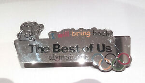 IOC pin The best of us - Vancouver 2010 or Beijing 2008 Olympic badge RARE