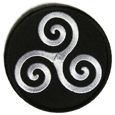 Embroidered Karma Symbol Iron on Sew on Biker Patch Badge