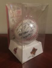 1997 CLEVELAND INDIANS WORLD SERIES Signed Team Baseball Vtg MLB Facsimile Auto'