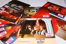 ATTENTION AU BLOB !  jeu photos cinema lobby cards horreur 1972