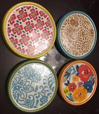 Pioneer Woman Flea Market Coasters (Stoneware)New In Box