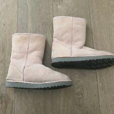 UGG Australia Short Pink Boots Sz 8