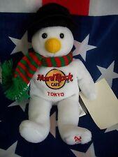 HRC Hard Rock Cafe Tokyo Christmas 2003 Snowman Scarf  LE 8``