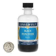 "Iron Oxide ""Magnetite"" / Fine Black Powder / 4 Ounces / 99% Pure / SHIPS FAST"