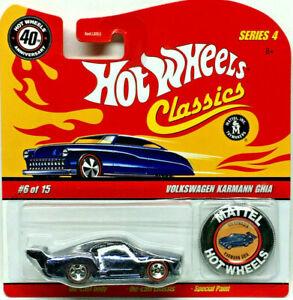 Hot Wheels 40th Anniversary Classics 4 VOLKSWAGON KARMANN GHIA w/Button (D Blue)