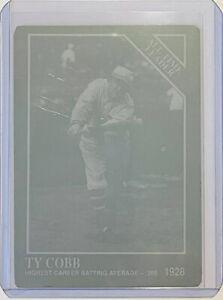 1/1 TY COBB 1991 CONLON CARD #250 PRINTING PRESS PLATE DETROIT TIGERS HOF 1 OF 1