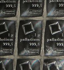 1 GRAM (1g) 999.5 FINE PALLADIUM VALCAMBI SWISS BULLION BAR (NOT GOLD OR SILVER)