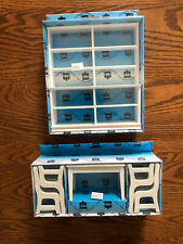 Dollhouse Miniature White Kitchen Table & Chairs Set & Bookcase 1:12 Scale