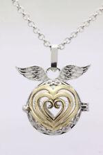 Harmony Ball Pendant Lockets Essential Oil Perfume Diffuser Necklace Angel Love