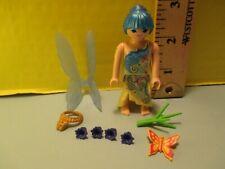 Playmobil SERIES 15 FAIRY W/ BLUE HAIR & WINGS new fig + orig pkg PM #70026