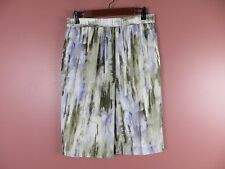 SK09366- NEW CHICO'S Woman 100% Polyester Pleated Straight Skirt Multi-Color 1 M