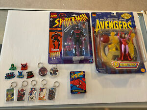 Mixed Action Figure Toy Lot Of 2, Keychains Etc