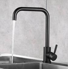 7 shape Kitchen Faucet Single Handle 360 Degree Rotation Sink Faucets Black