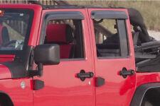Rugged Ridge Window Rain Deflectors For 07-18 Jeep Wrangler Unlimited 11351.12