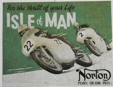 Vintage Replica Tin Metal Sign poster Norton Motorcycle bike Parts forks 1704