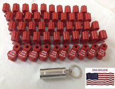 75 Plastic Red Retail Peg Display Hook Anti Sweep Theft Stop Lock Ask for Help
