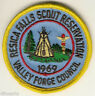BOY SCOUTS Patch - 1969 Resica Falls Scout Reservation - Valley Forge Council
