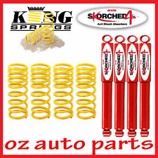 "KYB SHOCK ABSORBERS & COIL SPRING 2"" LIFT KIT FOR NISSAN PATROL GU WAGON 1/98-ON"