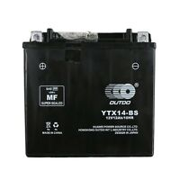 YTX14-BS BATTERY FOR Scooter Kymco Xciting 500i Piaggio BV250 MP3 250 MP3 400 X9