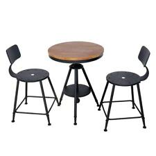 Industrial Breakfast Bar Table and Chairs Kitchen Furniture Dining Set 2 Seat